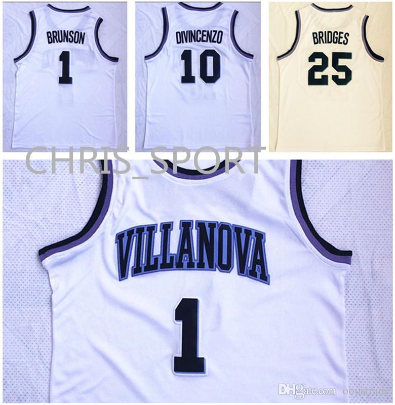 23a6b973b Villanova College Basketball Jerseys  1 Jalen Brunson 10 Donte ...