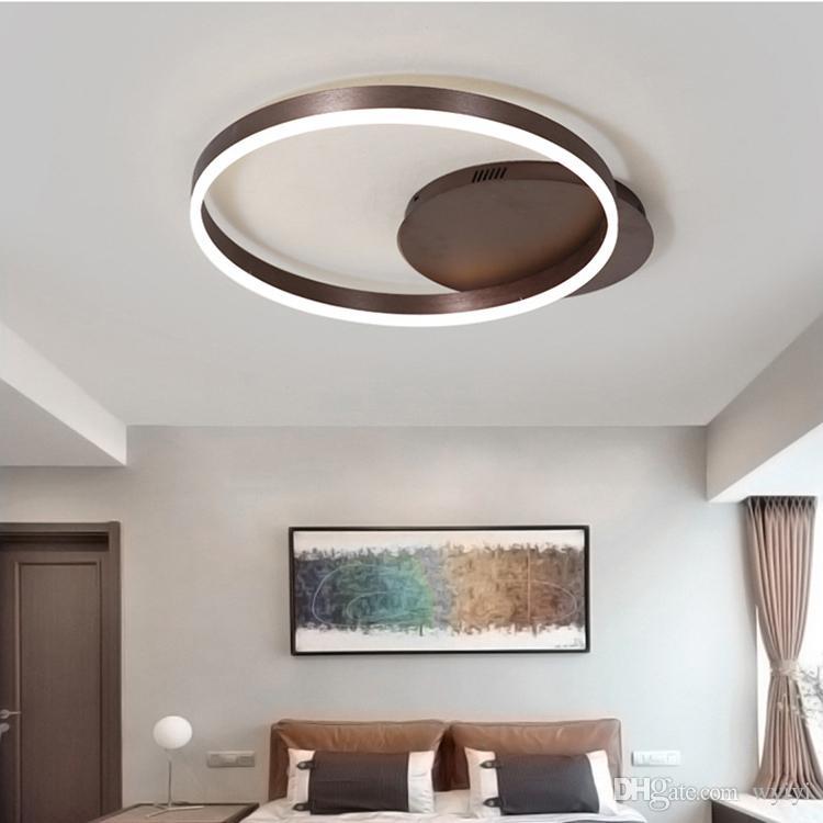 Moderne LED deckenleuchten aluminium fernbedienung dimmen beleuchtung  wohnzimmer schlafzimmer esszimmer studie küche deckenleuchte AC100-240V