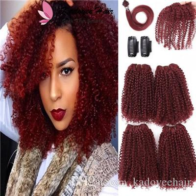 /pack short hair 12inch Afro kinky Curly Synthetic Wefts Sew in Hair Extensions with closures clip in human hair feeling wefts
