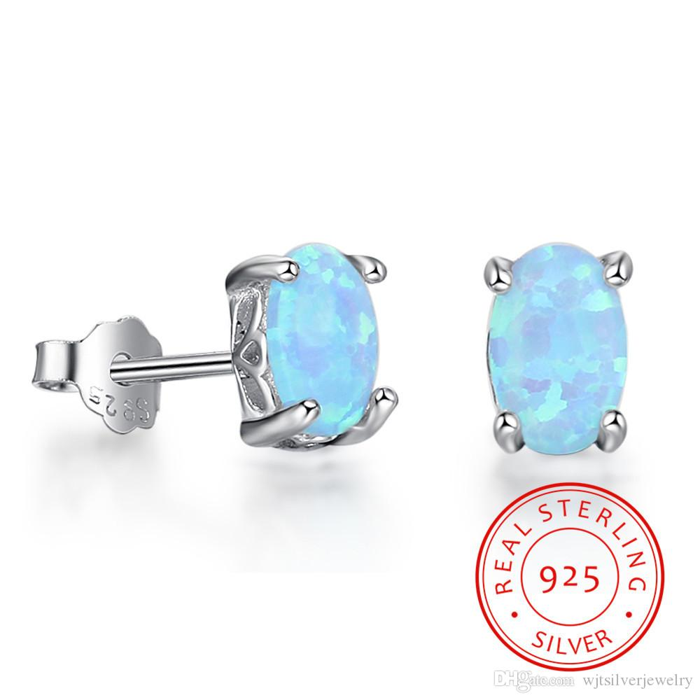 from light opal sterling blue classic real four explosion female oval product earrings wjtsilverjewelry claw elements silver