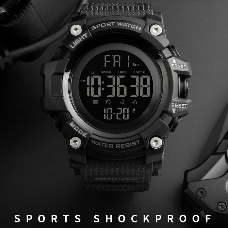 ef75618d9 Men's Outdoor Sports Watches Countdown Stopwatch Men Watch Top Brand Luxury  Digital Wrist Watch Waterproof LED Electronic Clock