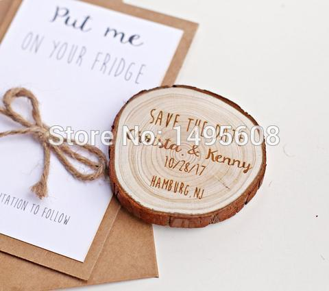 Personalized save the date magnets custom wooden save the date personalized save the date magnets custom wooden save the date magnets rustic wood slice magnetwedding invitations party favors for birthday party favors filmwisefo
