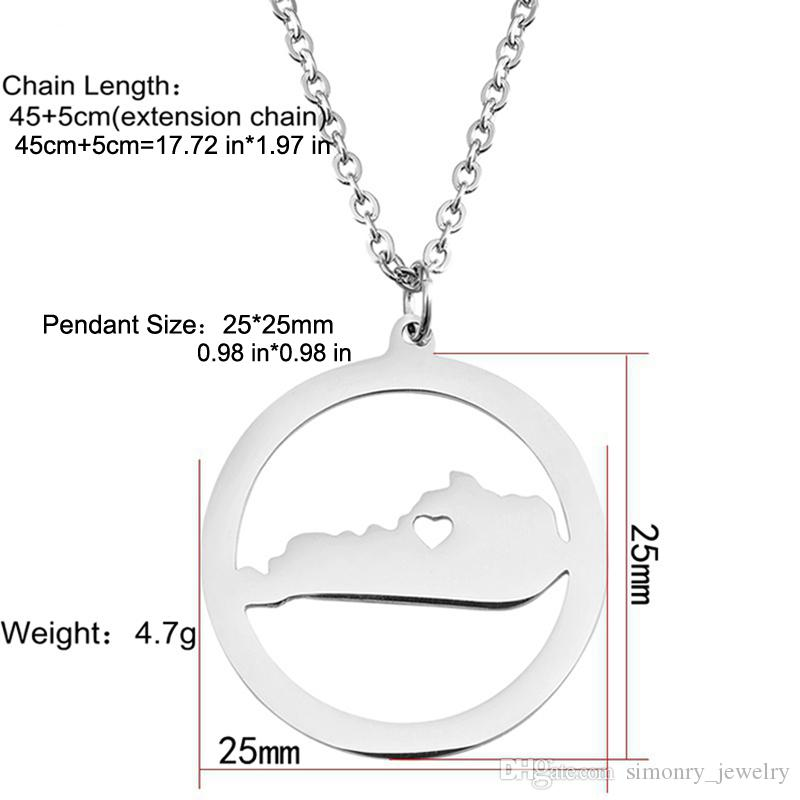 Wholesale Kentucky Map Pendant Necklace With Love Heart Stainless ...