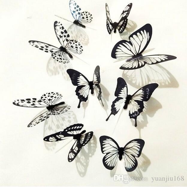 Black And White 3d Butterfly Wall Stickers Art Wall Decals For Home Decoration Hot Ga92 Home Art Wall Decals Home Decal From Yuanjiu168 $45.23| Dhgate.Com  sc 1 st  DHgate.com & Black And White 3d Butterfly Wall Stickers Art Wall Decals For Home ...