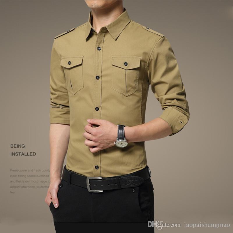 ae6b7d8d5234 2019 Wholesale Men S Long Sleeved Shirts