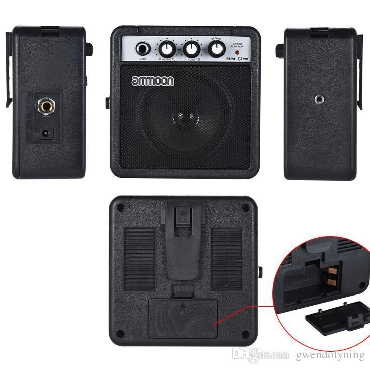 Mini 5 Watt 9 V Alimentado Por Bateria Amp Amplificador Speaker para Acústico / Guitarra Elétrica Alta Sensibilidade Ukulele