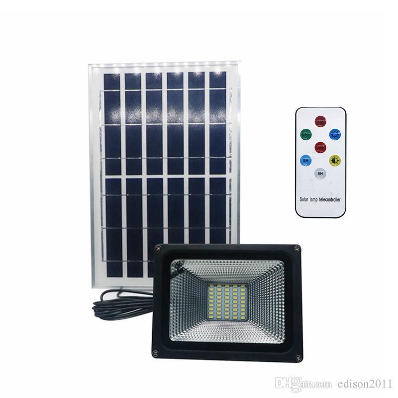 Edison2011 SMD 5730 Солнечный прожектор с пультом дистанционного управления прожектор 10 Вт 20 Вт 30 ВТ 50 Вт светодиодный Солнечный прожектор для уличного сада