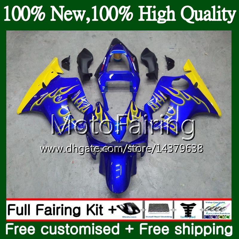 Body For HONDA Blue yellow CBR600FS CBR600F4i CBR600 F4i 01 02 03 43MF21 CBR 600F4i CBR600 FS CBR 600 F4i 2001 2002 2003 Fairing Bodywork