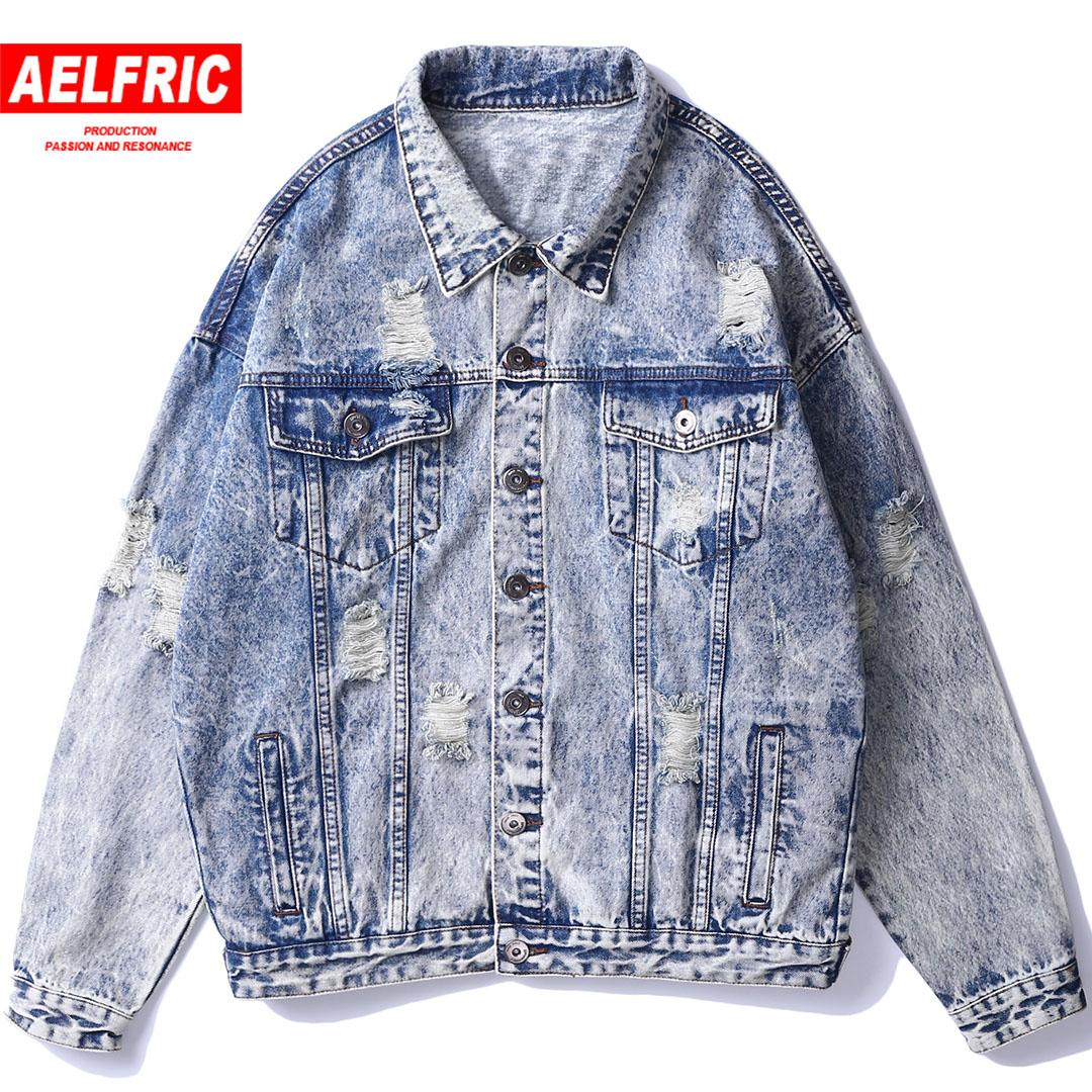 59a4f4b48c7 Men Denim Jacket Vintage Ripped Holes Hip Hop Bomber Jacket Washed  Embroidery Distressed Jean Short Retro Streetwear CA15 Brown Jacket Mens  Overcoats From ...