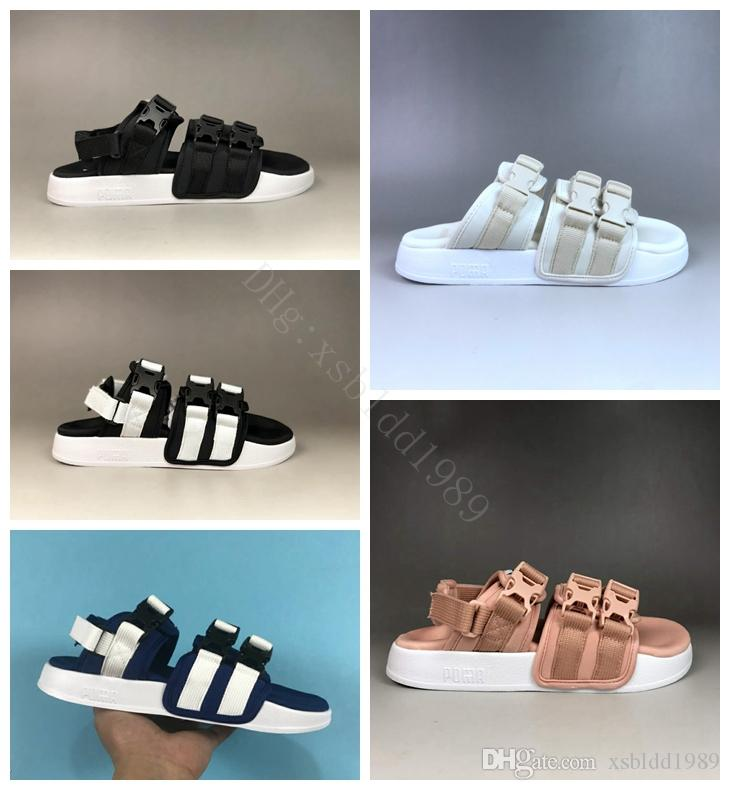 01a69c4cf1d2 2018 New Mens Beach Sandals Womens Fashion Brand Sandals College Campus  Slipper Women Designer Shoes Men Summer Flip Flops Bamboo Shoes High Heels  Shoes ...