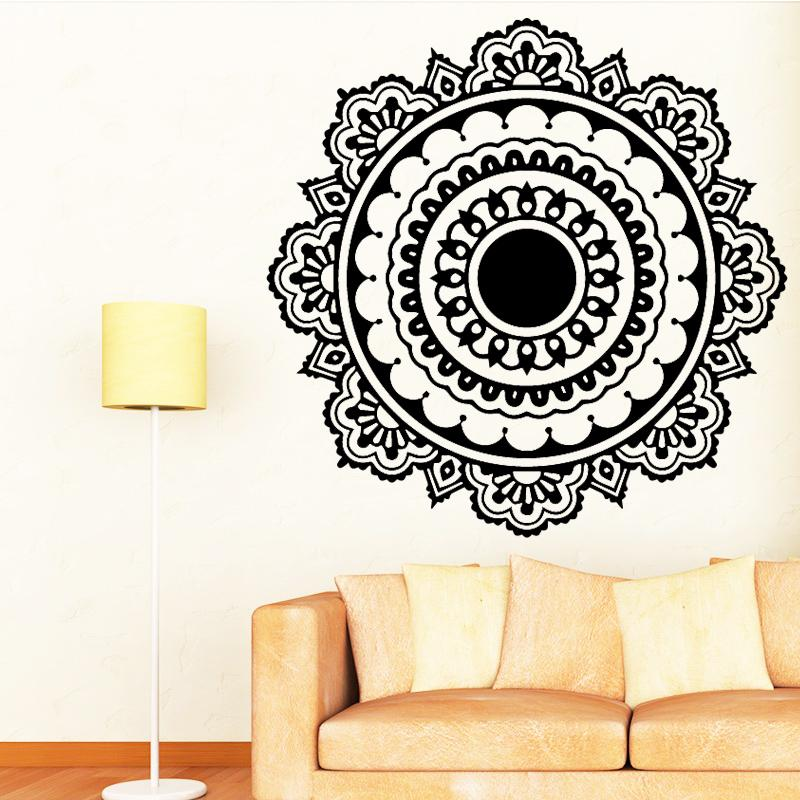 Tremendous Buddhism India Mandala Wall Stickers For Living Room Namaste India Removable Creative Vinyl Wallpaper Mural Home Decoration Download Free Architecture Designs Grimeyleaguecom