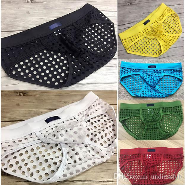 d107576c711 2019 See Through Men Briefs Underwear Summer Hole Fashion Panties Sexy Gay  Male Shorts Top Brand Club Mesh Fishnet Underpants From Undiesclub