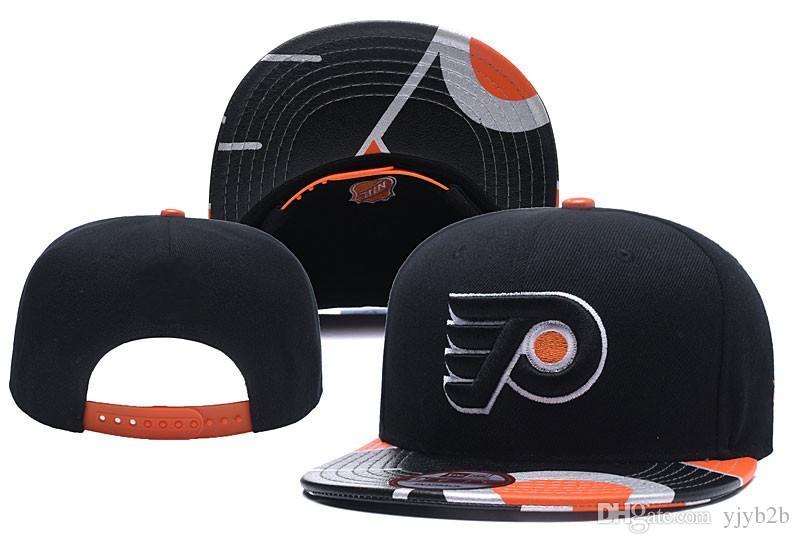 73898538e5f0f 2018 New Philadelphia Black Hockey Snapback Hats Embroidered Team ...