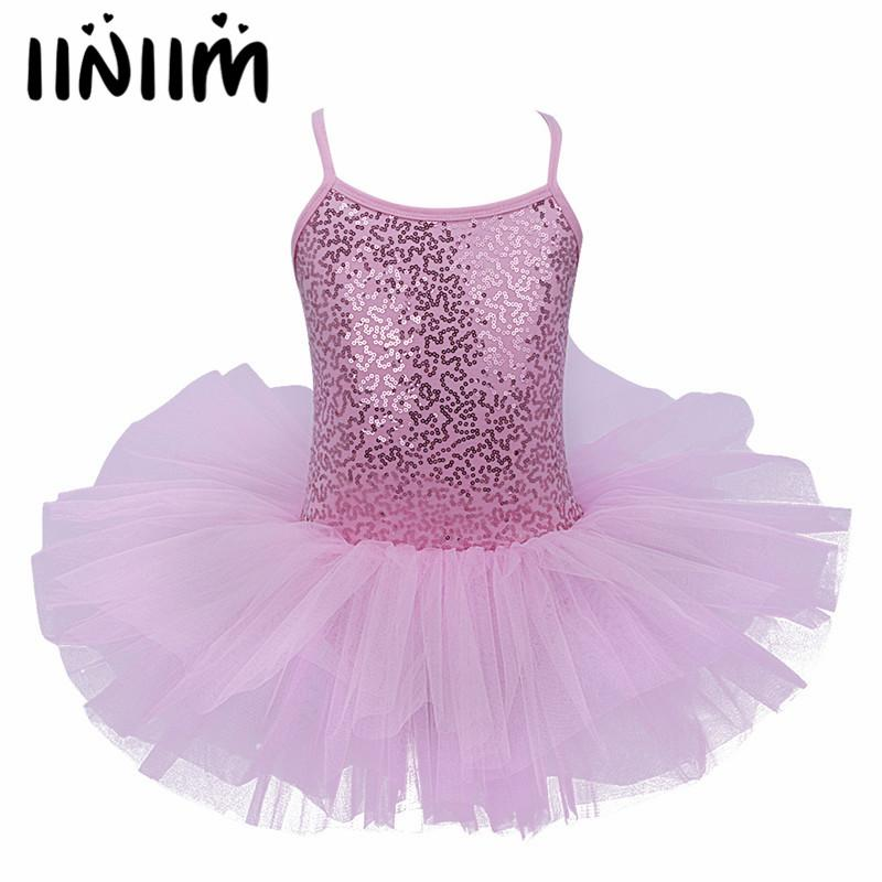 a108f36d1 Children Girls Kids Newest Christmas Gift Sequins Fancy Party Costumes  Cosplay Girls Ballet Tutu Dress Dancewear Leotard Dress