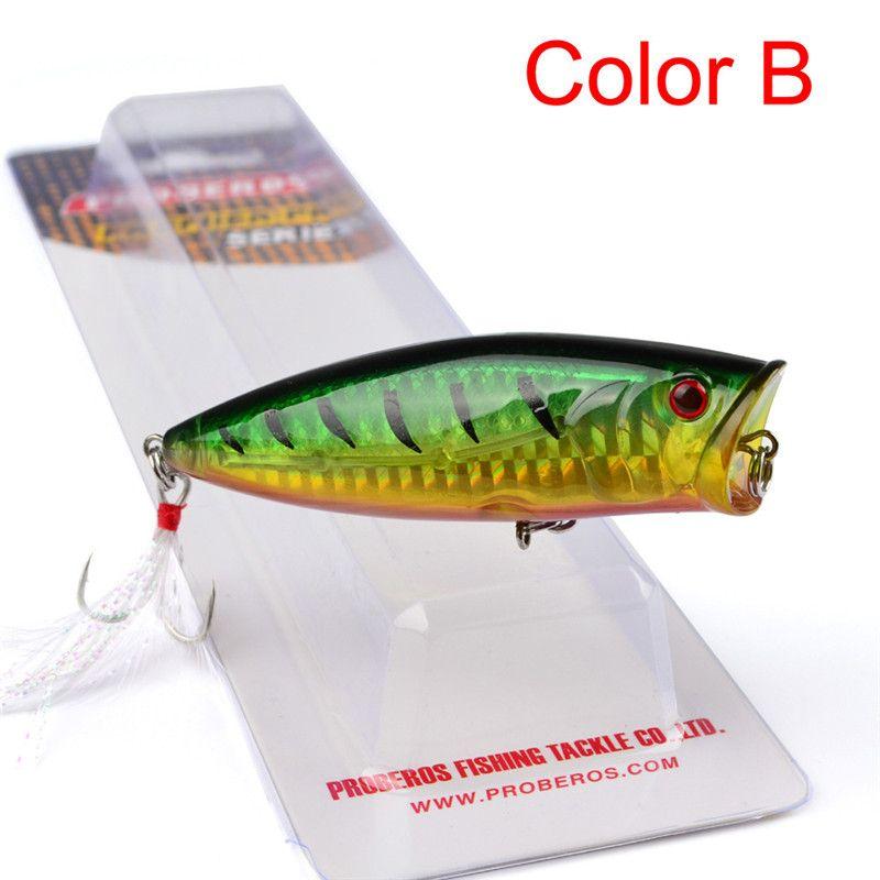 Artificial Plastic Popper Fishing Lure 19g 7.5cm Topwater Swimming Vivid Body Laser Bait bass Crankbaits