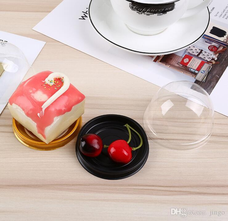 DHL Mini Cupcake Cake Dome Favor Boxes Plastic Baking Container Cake Box Wedding Favors Boxes Mooncake Gift Box Supplies