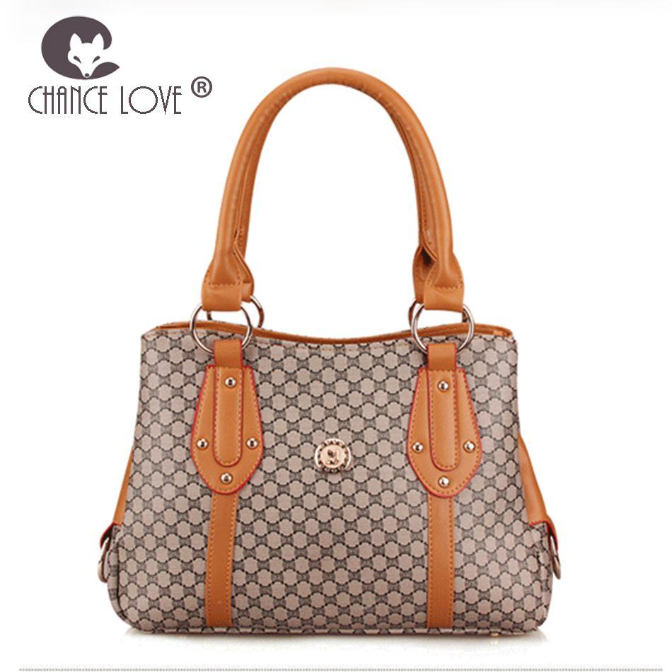 Chance Love Trendy Handbag 2018 New Fashion Big Bag Simple Wild Lady