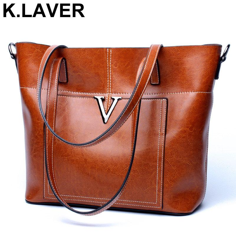 62b4559e3c K.LAVER Shoulder Handbags Women Vintage Bag High Quality Portable ...