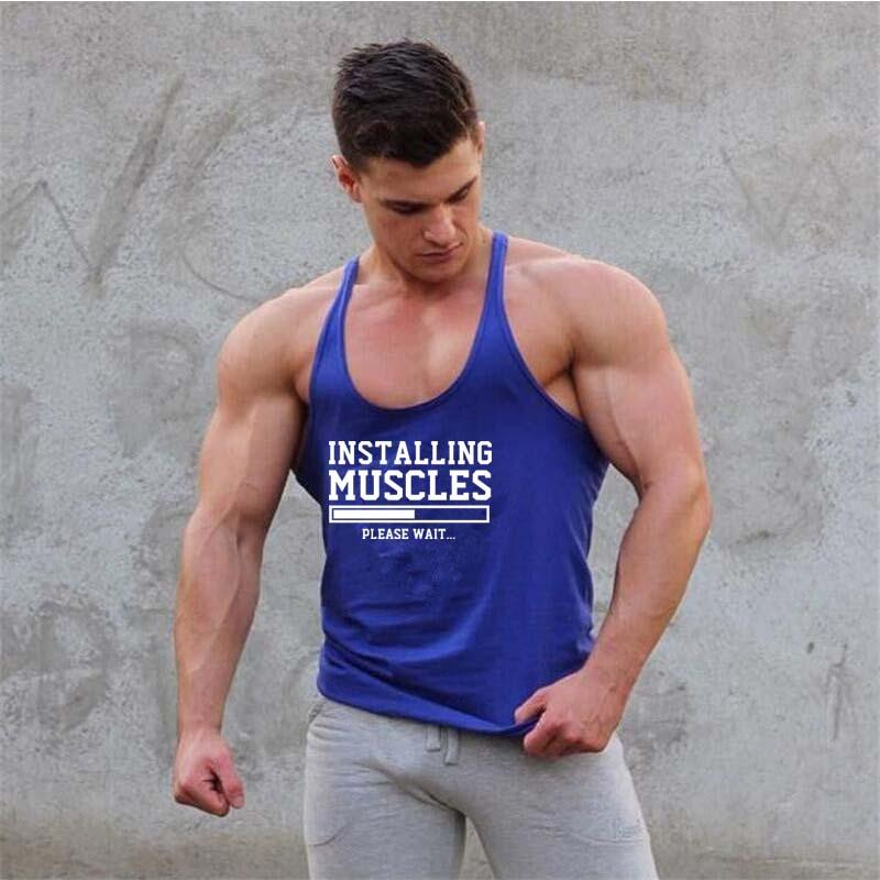 4666cceeb4362e 2019 Gyms Clothing Bodybuilding Tank Top Men Fitness Singlet Sleeveless  Shirt Cotton Muscle Guys Brand Undershirt For Boy Vest From Caesarl