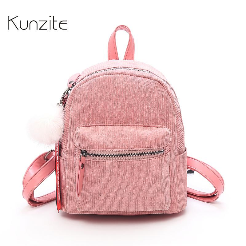 95eb501374 Kunzite Women Fashion Backpack Children Mini Backpacks Kids Cute School  Backpacks For Teenage Girls Small Travel Bags Book Bags Leather Backpacks  One Strap ...