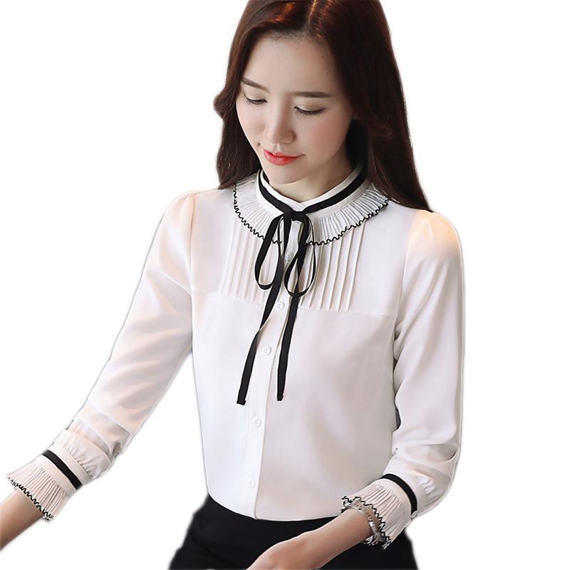 434e9eea505 2019 Spring Chiffon Blouse 2018 Women Tops And Blouses Shirt Fashion ...