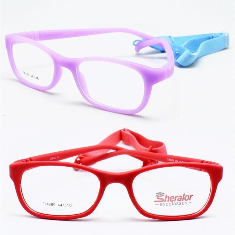 5d34ea5f9d9 2019 Tr869 Unisex Environmental TR90 Bendable Safety Progresive Unique  Shape Glasses Frames With Adjustable Strap For Kids From Zaonoodle