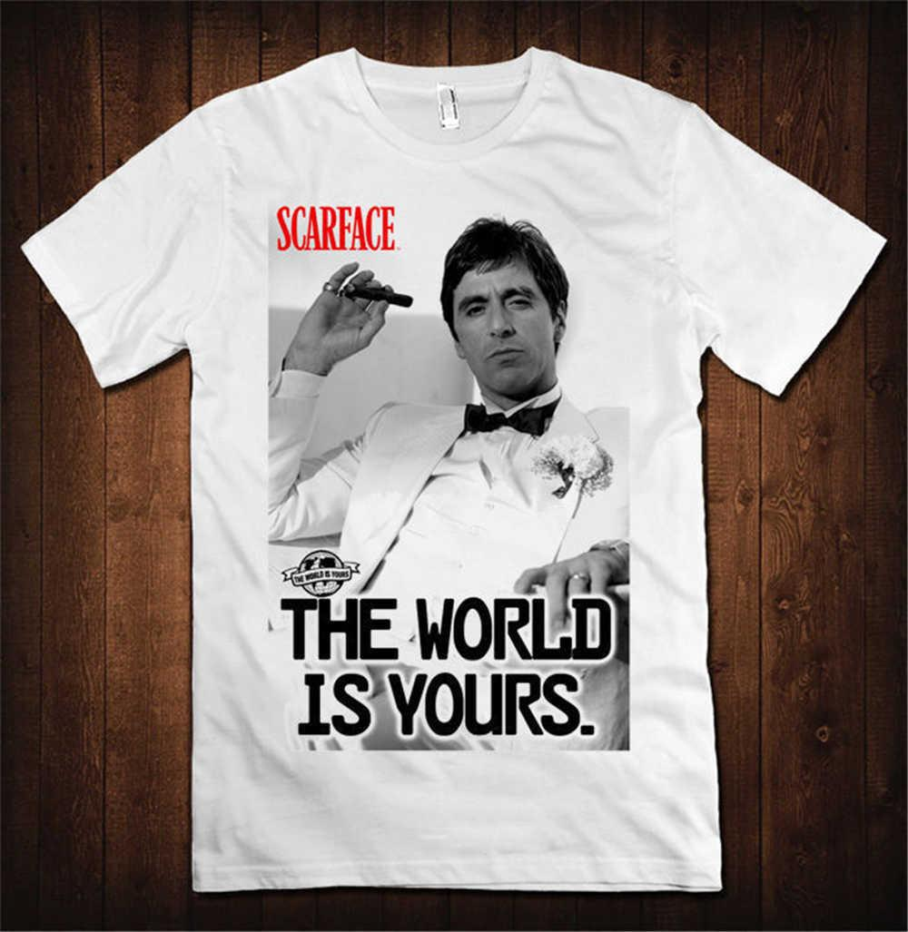 Summer 2018 New Scarface The World Is Yours T Shirt Men s Women s Al Pacino  Tony Montana S 3XL T Shirt Men T Shirt Tops Tees Funny T Shirt Designs Make  A ... 7a79af3b0b
