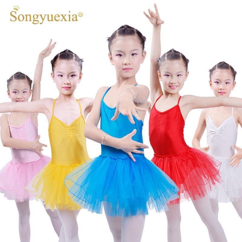 105420dfa44c 2019 Songyuexia Girls Ballet Dance Dress For Kids Ballerina Leotard ...