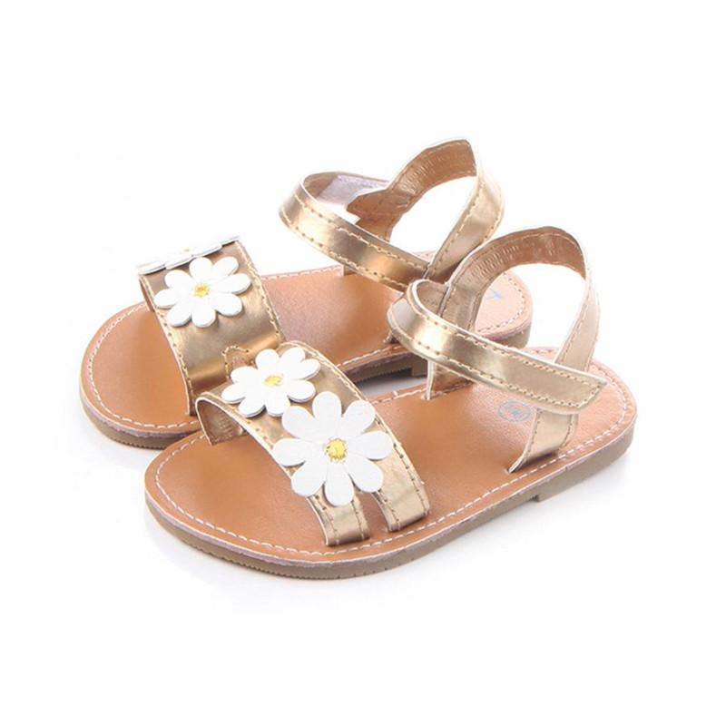 f950ccc41ae2f2 Girls Kids Casual Summer Beach Sandals Infant Floral Soft Soled Anti Slip Shoes  Flip Flops Flat Heels Soft S3APR6 Boys Shoe Shoes For Girls Online From ...