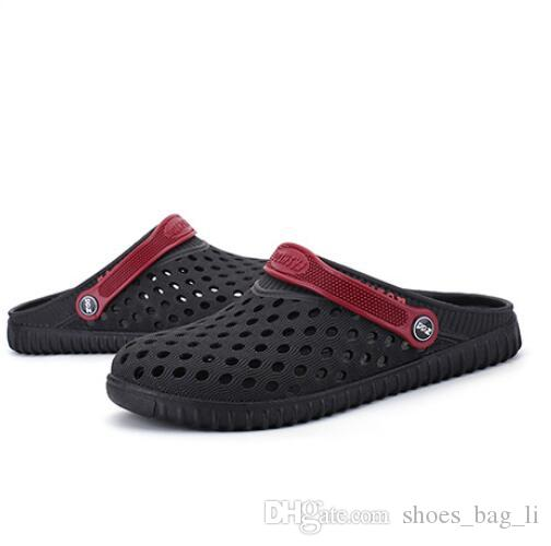 AAASummer new men's baotou hole cool slippers breathable men's home casual beach shoes fashion wild luxury waterproof size 40-44