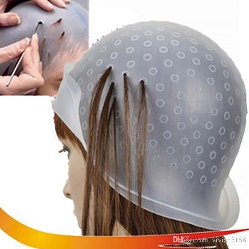 Reusable Silicone Salon Hair Coloring Highlighting Dye Cap With