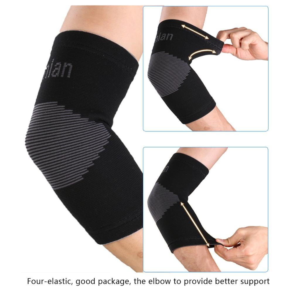 029b9a3b4a 2019 Sports Nylon Elastic Elbow Knee Brace Glove Elbow Pads Safety Guard  For Volleyball Tennis Support Absorb Sweat From Moonk, $22.11 | DHgate.Com