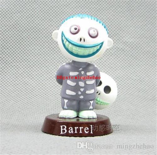 6 pçs / set 5 ~ 7 cm Anime Nightmare Antes do Natal Jack PVC figura boneca para o presente do miúdo Acessórios Do Telefone Figuras de Ação Brinquedo dool Frete grátis