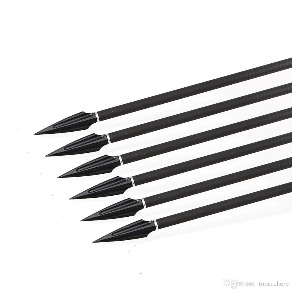 6/12/24/50/135Grain Arrowhead Broadhead Carbon Steel Screw-in Tips Points Black Archery Shooting Hunting