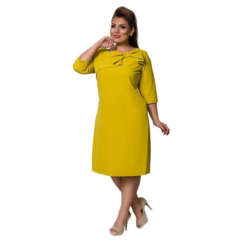 76d145144f 2019 L 6XL Large Size 2018 Summer Dress Big Size Elegance Dress Work Office  Straight Plus Women Clothing Vestidos From Ppkk