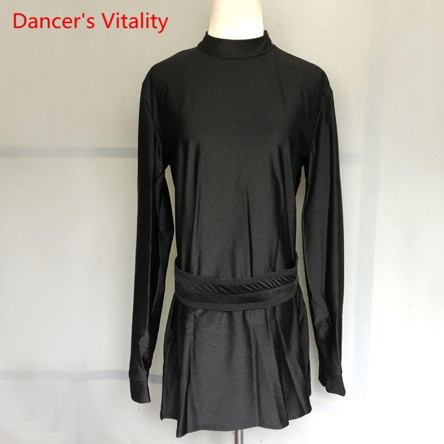 8fad3df650c Acheter Tenues De Danse Latine Pour Hommes Vêtements De Danse Pour Adultes    Enfants Salle De Bal Chemises Latines Pour Hommes Costumes De Compétition  Haut ...