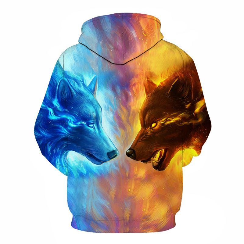Wolf Hoodies by JoJoesArt 3D Men Women Sweatshirts Fashion Pullover Autumn Tracksuits Harajuku Hoodies Casual Animal