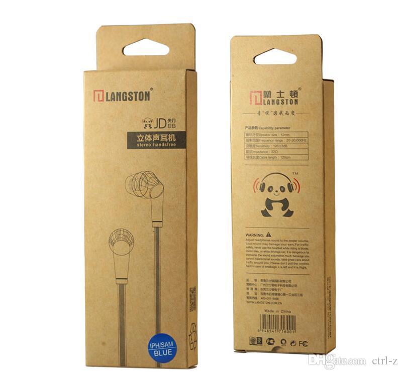 Langsdom JD89 JD88 سماعات رأس مسطحة خط دائري 3.5 ملم سماعات سلكية ستيريو HIFI سماعات أذن آيفون سامسونج فون Xiaomi مع التجزئة