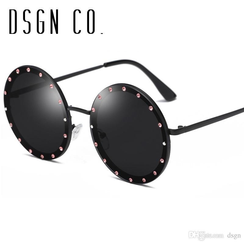 b1ec25e55bd DSGN CO. 2018 Brand Sunglasses For Men And Women Faux Crystal Design ...
