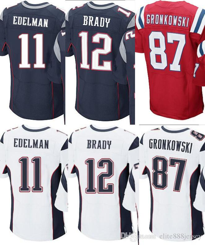 hot sale online e6c76 15748 New England Patriots #12 Tom Brady Mens Stitched Jersey Size ...