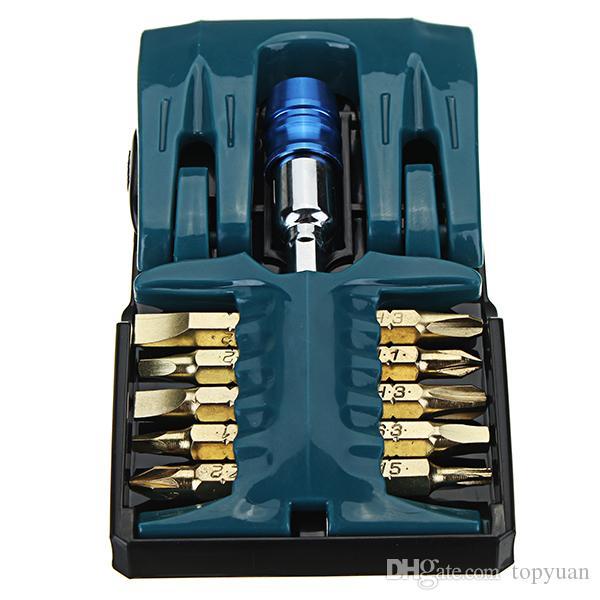 1/4 inç Hex Shank Soket Sürücü Adaptör Seti ile 10 adet Tornavida Uçları