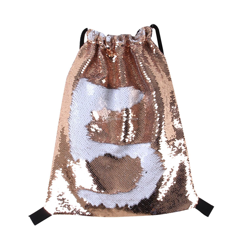 Glitter Pailletten Kordelzug 2018 Cartoon Meerjungfrau Pailletten Rucksäcke Reisetaschen 17 Arten 42 * 36cm C2700
