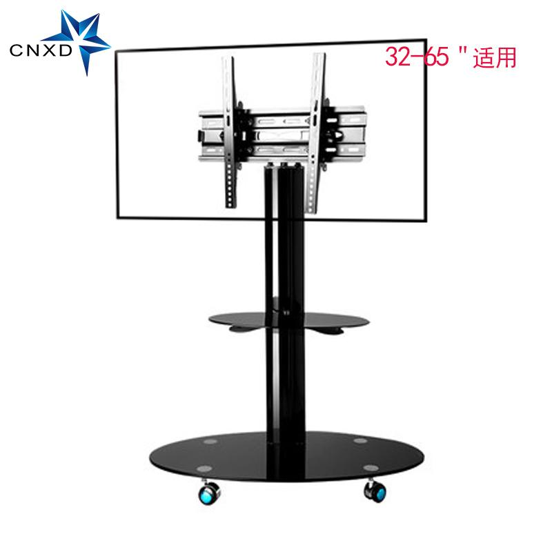 Mobile Tv Stand Bracket Floor Tv Carts With Adjustable Shelf And