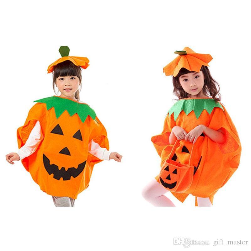 Kid Halloween Pumpkin Costumes with Hat Pumpkin Suit 2-Piece Set ...