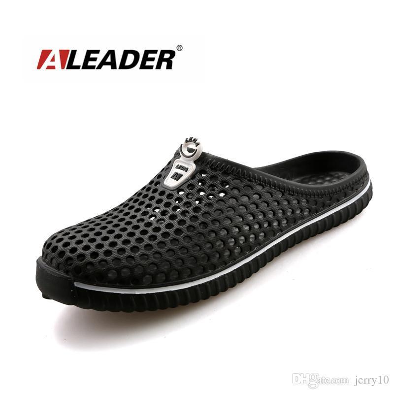 e6aca3073ffd79 Aleader Summer Women Slip On Garden Shoes Croc Clogs Eva Beach Women Sandals  Lightweight Unisex Beach Slippers Big Size Sandals Espadrilles Birkenstock  ...