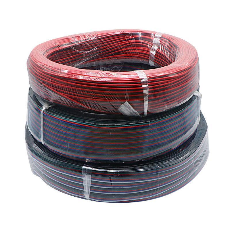d60f055027e Compre Cable De Cable De Extensión De Conector LED De 100M   Roll 2PIN 4PIN  5PIN Para Tira De LED Color De Signle Y Tira De Color RGB A  34.34 Del ...
