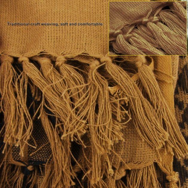 Foulard Carrée Arabia Tactical Foulard de sport outdoor 100% coton Ne se décolore pas et ne se déforme pas Tissage artisanal traditionnel, doux et confortable.