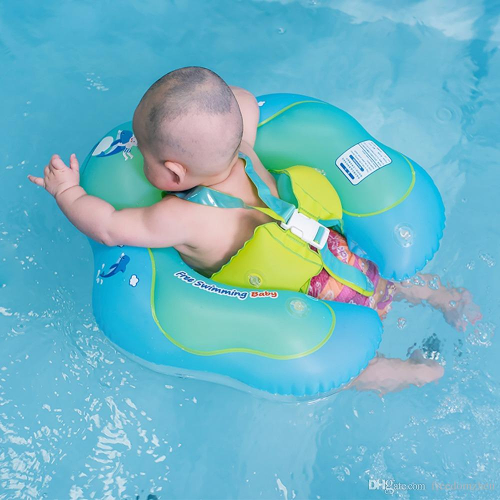 Infant Safety Inflatable Pool Float Baby Waist Circle Float Swimming Pool  Swim Ring With Inflator Plump for 2-6 Years Children