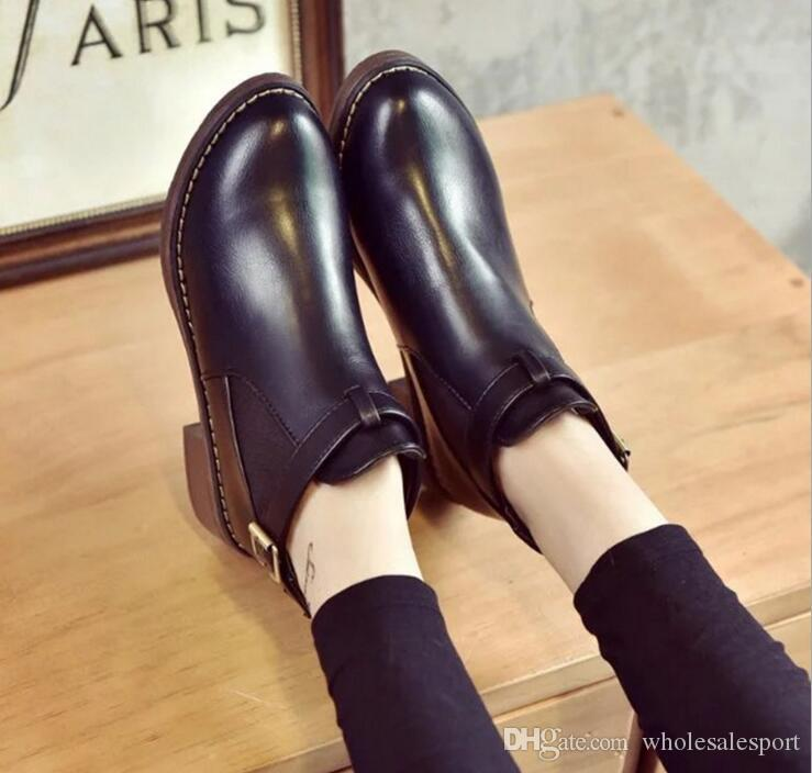 Ankle Boots Ladies Fashion Women Low Ankle Trim Round Toe Ankle Leather  Boots Casual Martin Shoes Monkey Boots Cheap Football Boots From  Wholesalesport 755f1fdbe5