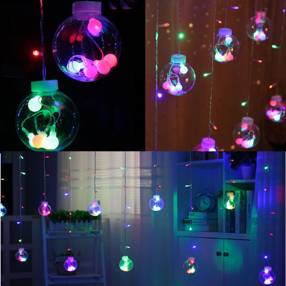 12 balls holiday lamp string 3m garland ball led string light christmas wedding party decoration curtain lights colorful 415 track pendant lighting ceiling